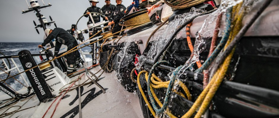 Leg 2, Day 16: Dongfeng thunders across the south Atlantic fighting for the podium