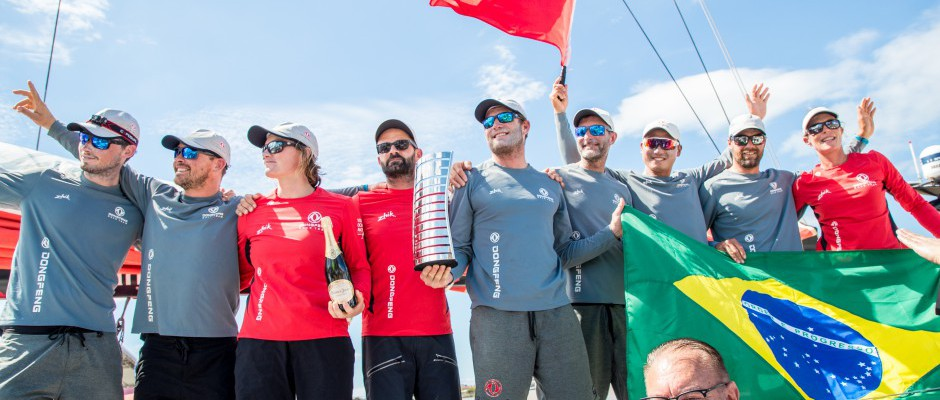 Dongfeng Race Team in strong position after second place finish into Itajai
